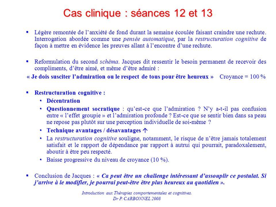 Cas clinique : séances 12 et 13
