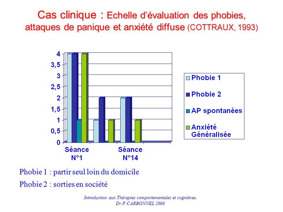 Cas clinique : Echelle d'évaluation des phobies, attaques de panique et anxiété diffuse (COTTRAUX, 1993)