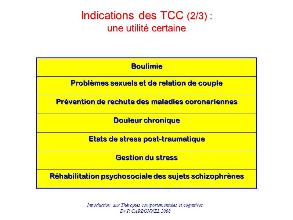 Indications des TCC (2/3) : une utilité certaine