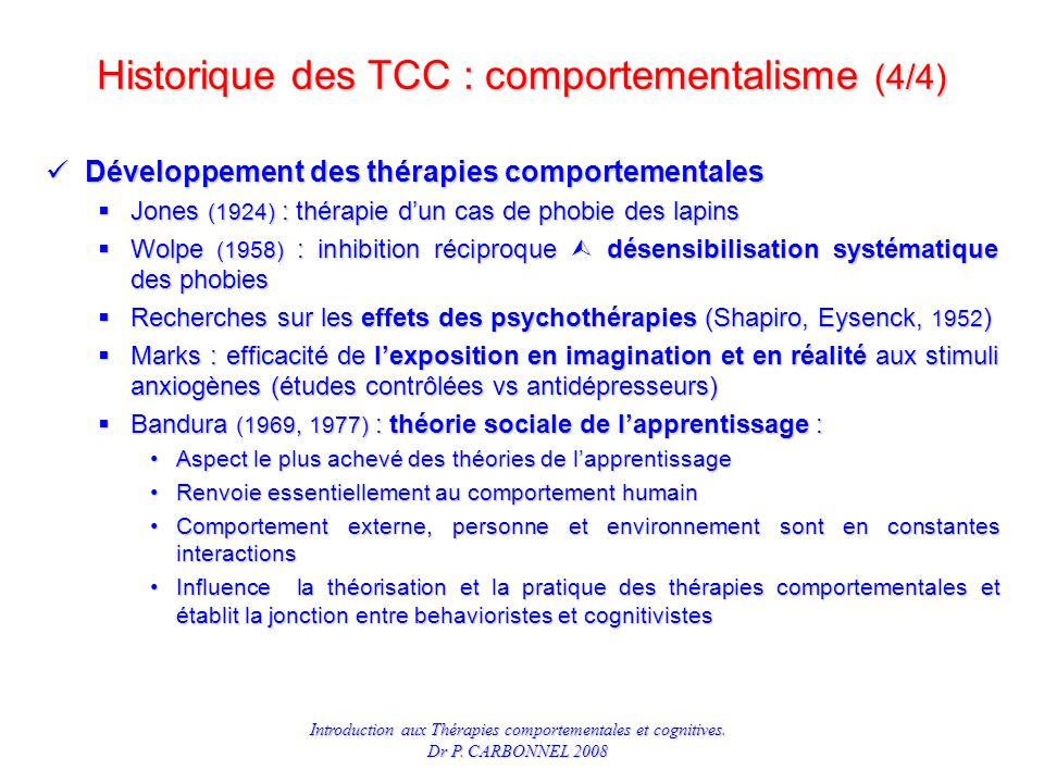 Historique des TCC : comportementalisme (4/4)