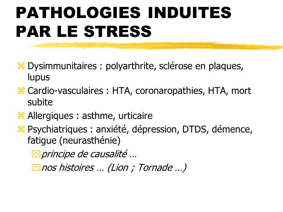 PATHOLOGIES INDUITES PAR LE STRESS