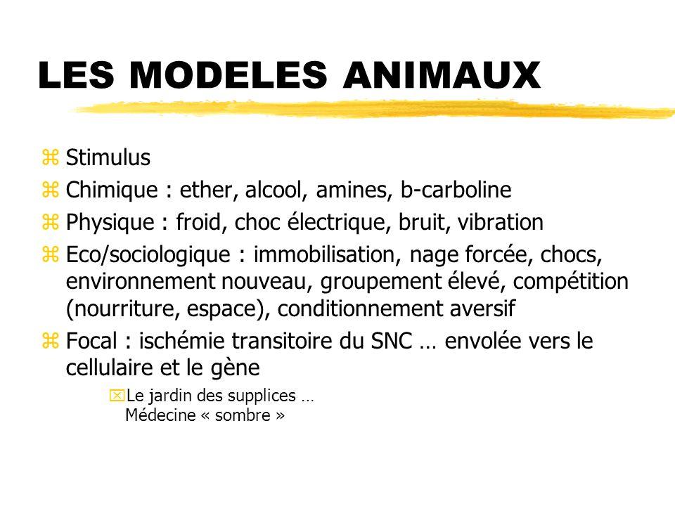 LES MODELES ANIMAUX Stimulus