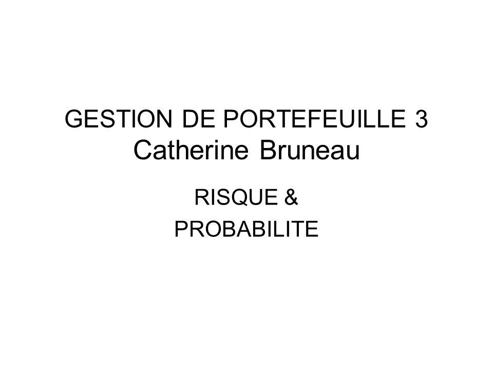 GESTION DE PORTEFEUILLE 3 Catherine Bruneau