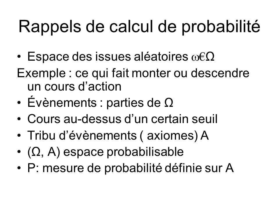 Rappels de calcul de probabilité