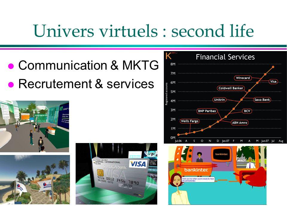 Univers virtuels : second life