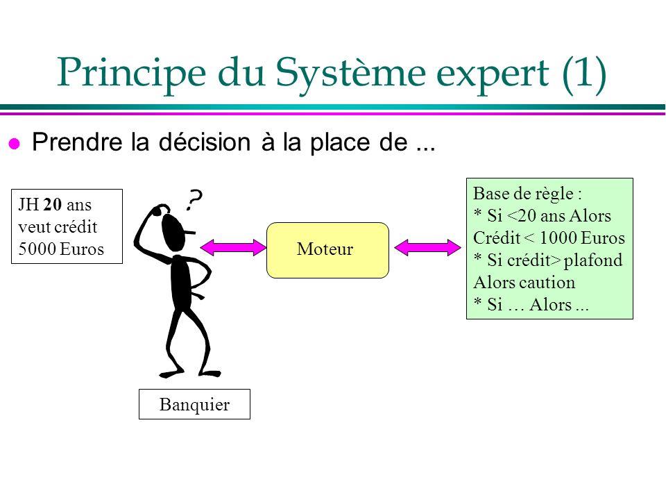 Principe du Système expert (1)