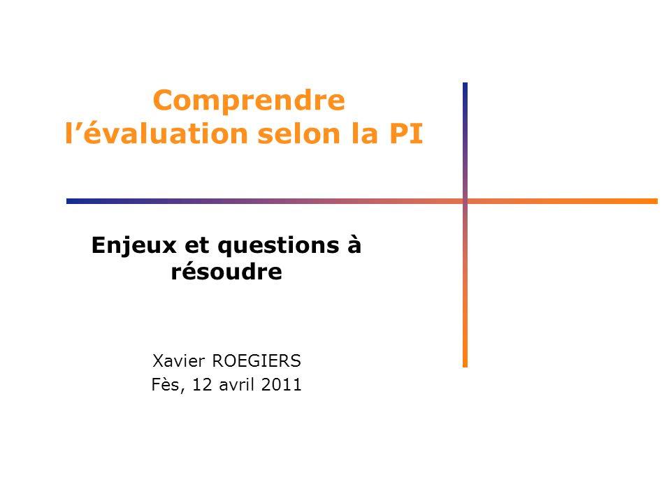 Comprendre l'évaluation selon la PI