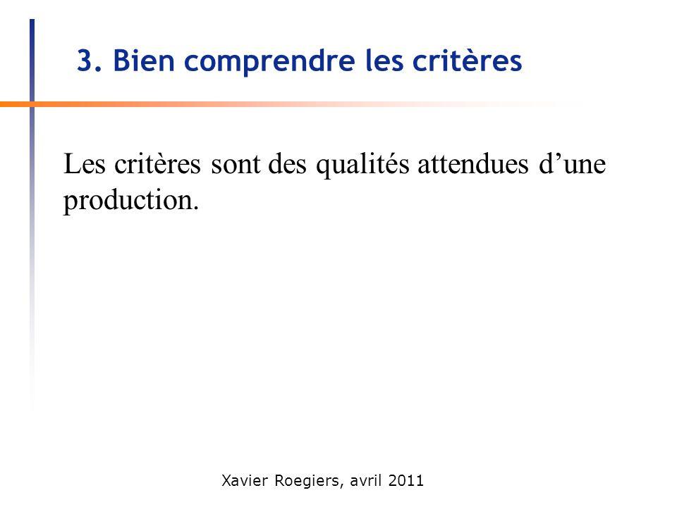3. Bien comprendre les critères