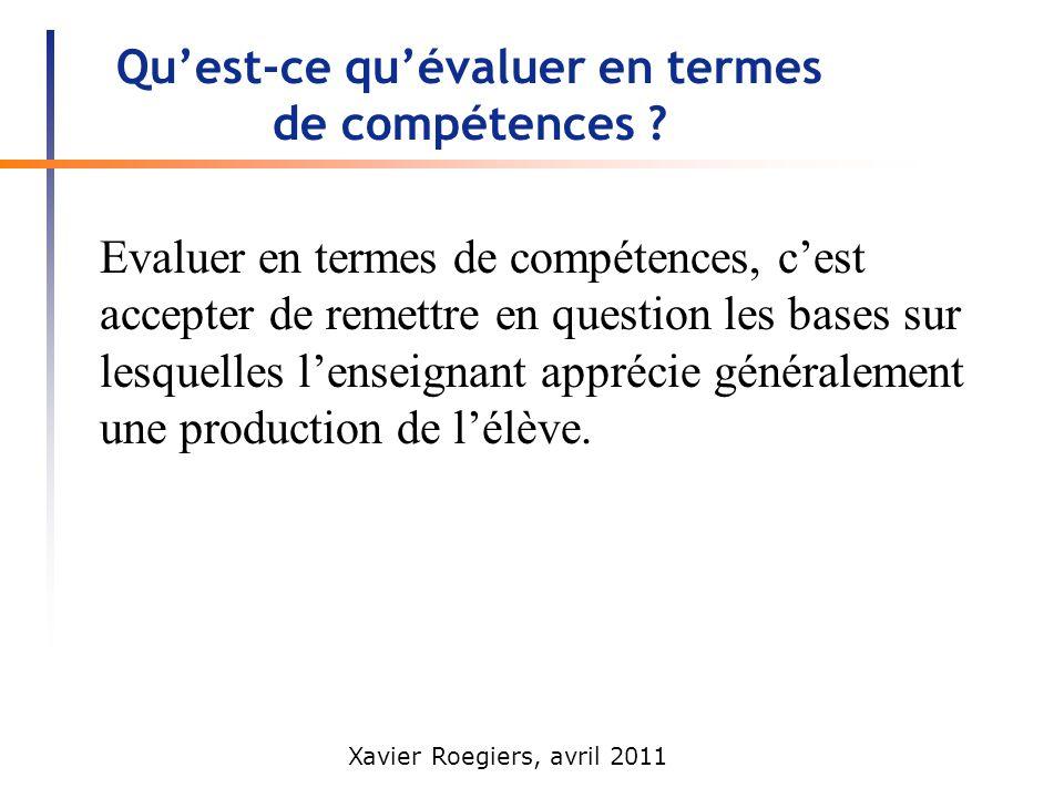 Qu'est-ce qu'évaluer en termes de compétences