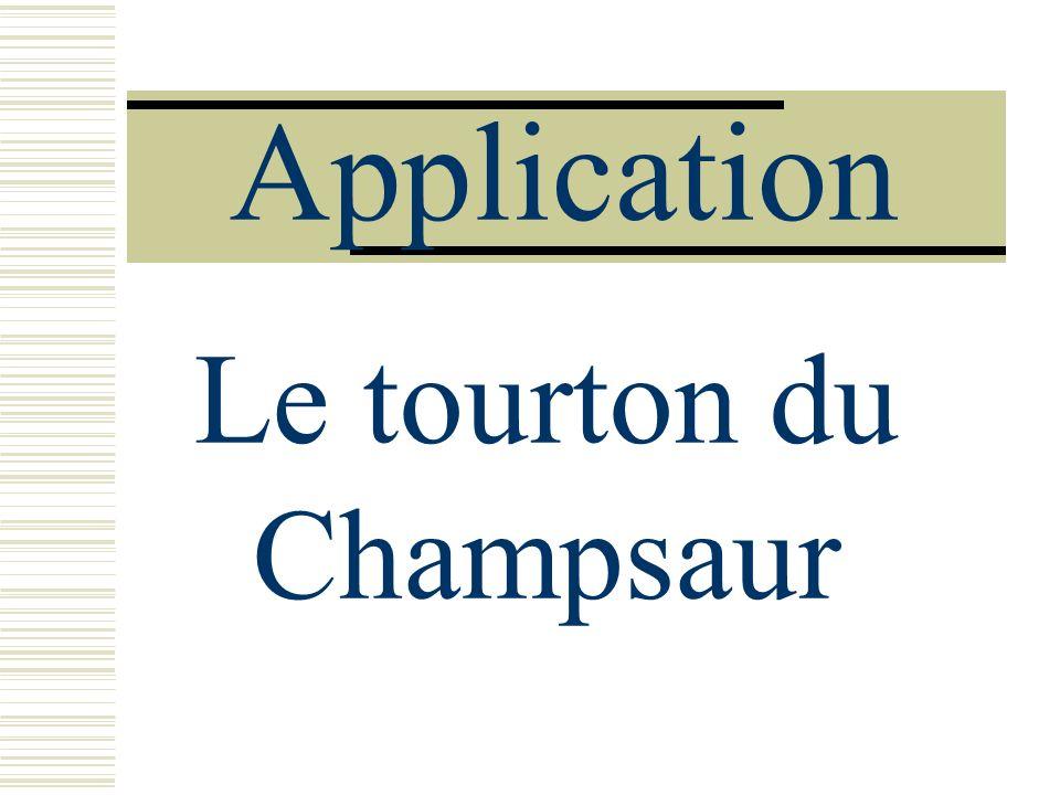 Le tourton du Champsaur