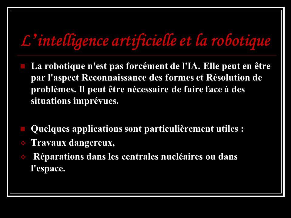 L'intelligence artificielle et la robotique