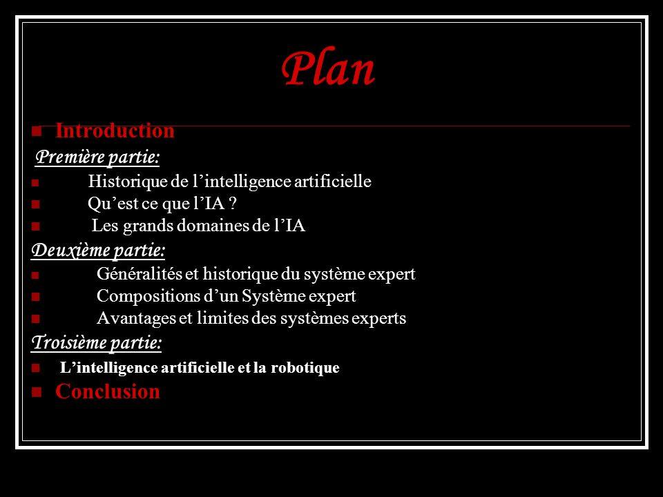 Plan Introduction Deuxième partie: Troisième partie: Conclusion