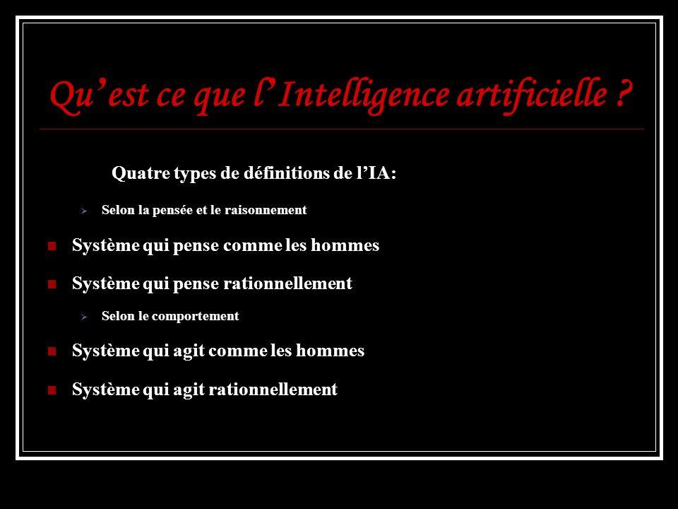 Qu'est ce que l'Intelligence artificielle