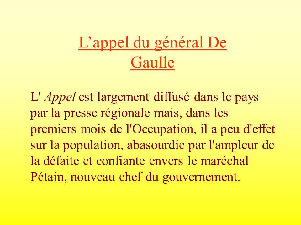 L'appel du général De Gaulle