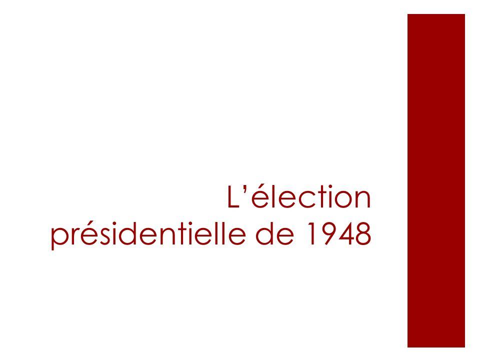 L'élection présidentielle de 1948
