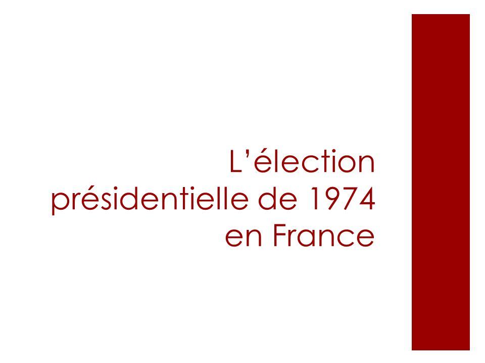 L'élection présidentielle de 1974 en France