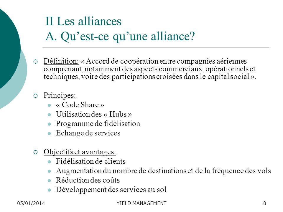 II Les alliances A. Qu'est-ce qu'une alliance