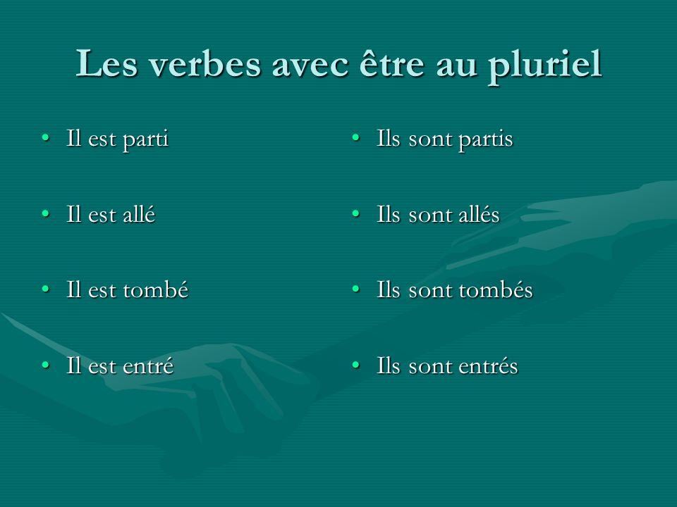 Les verbes avec être au pluriel
