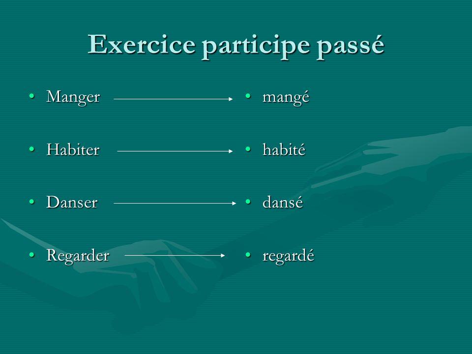 Exercice participe passé