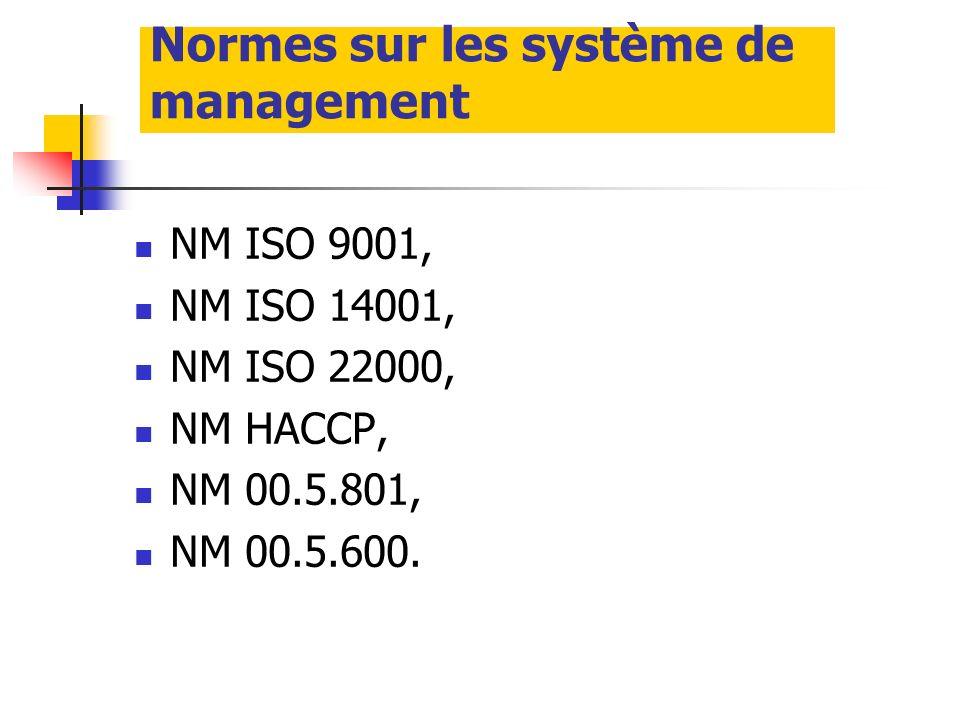 Normes sur les système de management