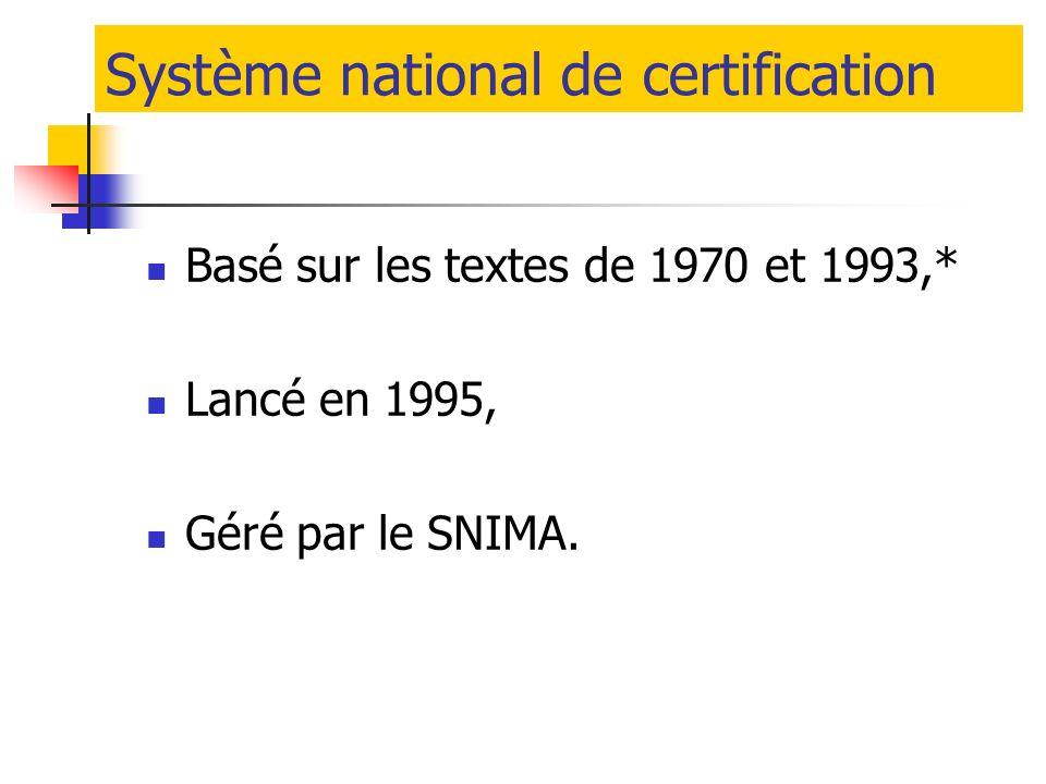 Système national de certification