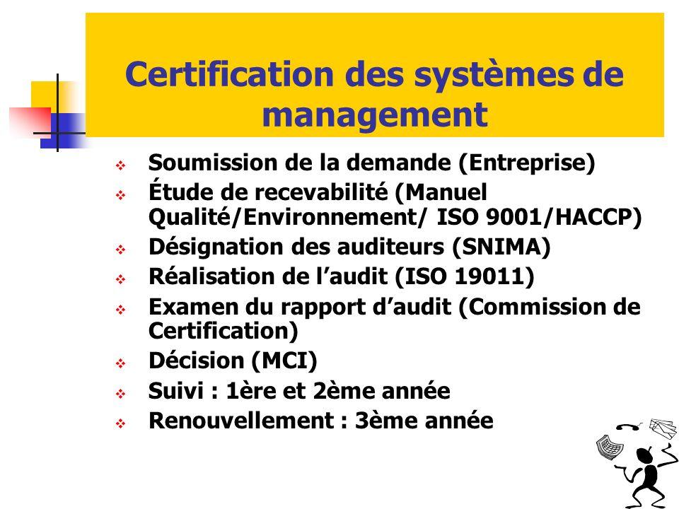 Certification des systèmes de management