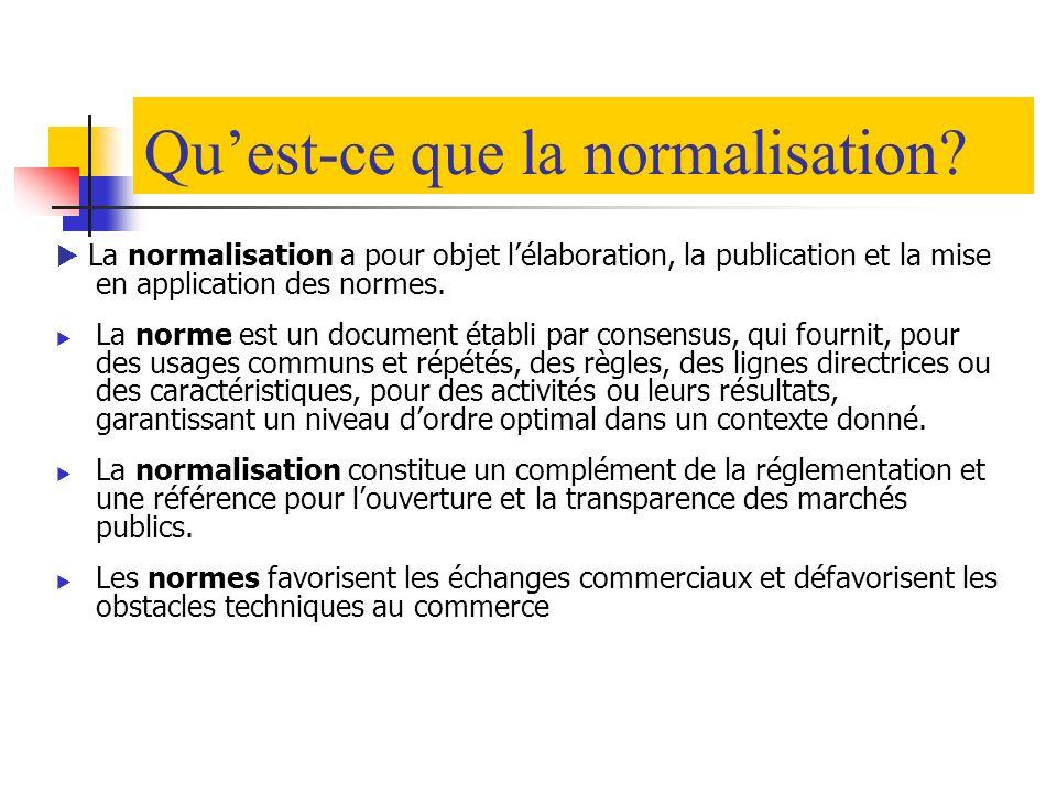 Qu'est-ce que la normalisation