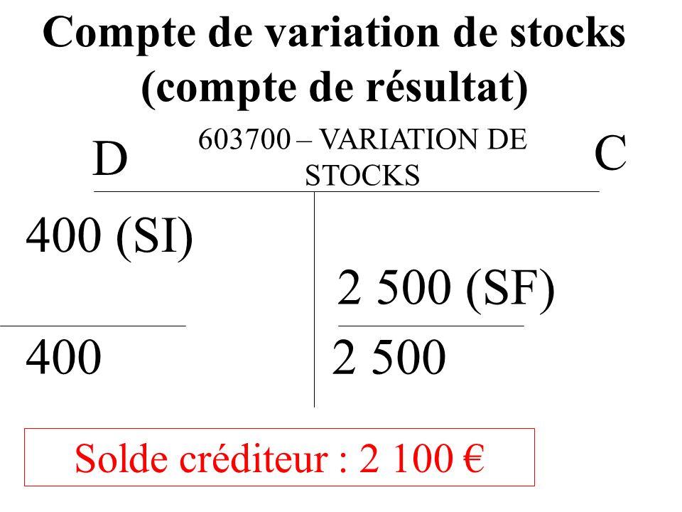 Compte de variation de stocks (compte de résultat)