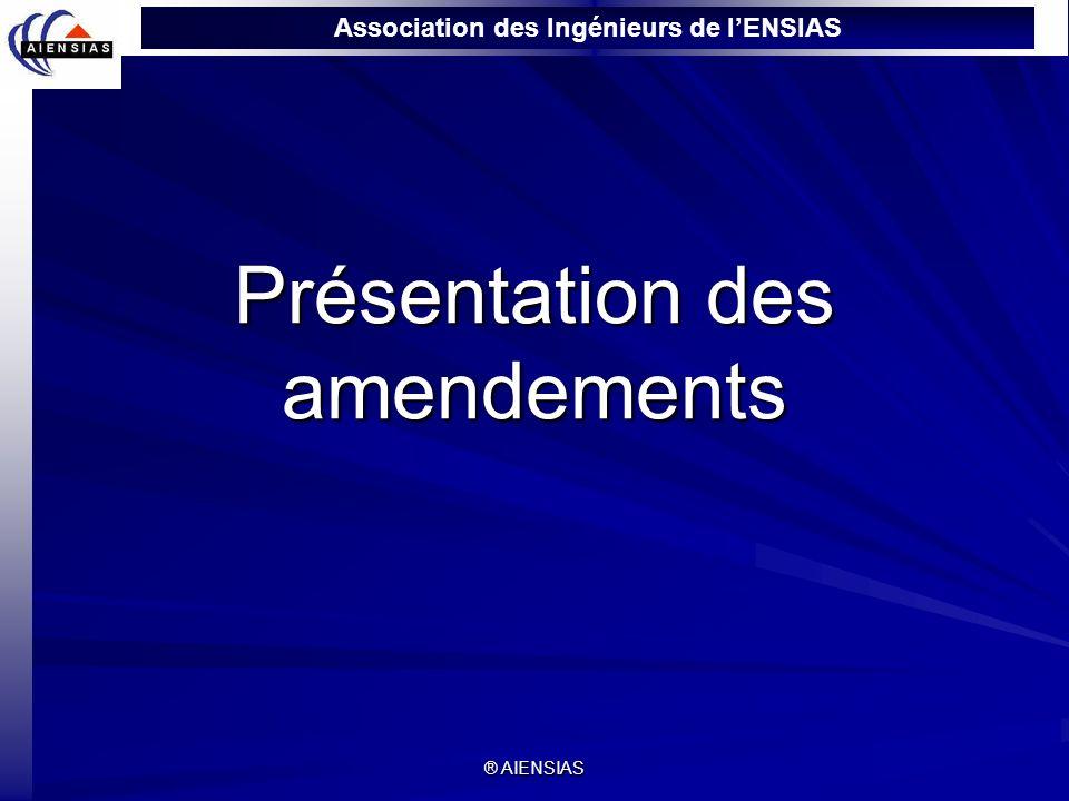 Présentation des amendements