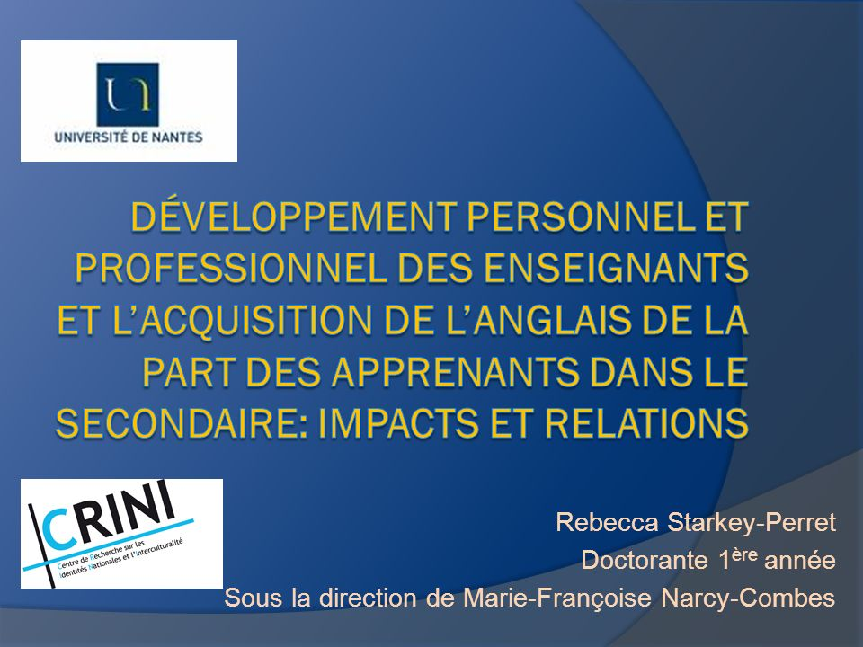 Développement personnel et professionnel des enseignants et l'acquisition de l'anglais de la part des apprenants dans le secondaire: impacts et relations