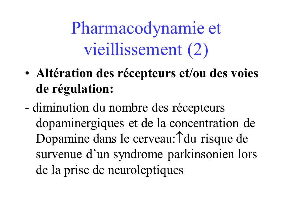 Pharmacodynamie et vieillissement (2)
