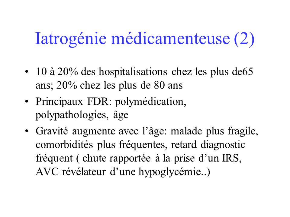 Iatrogénie médicamenteuse (2)