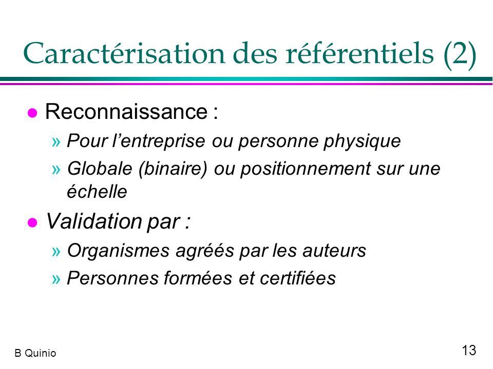 Caractérisation des référentiels (2)