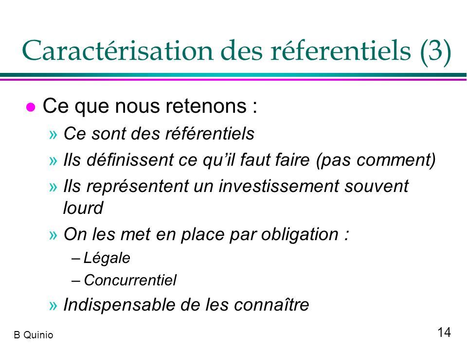 Caractérisation des réferentiels (3)