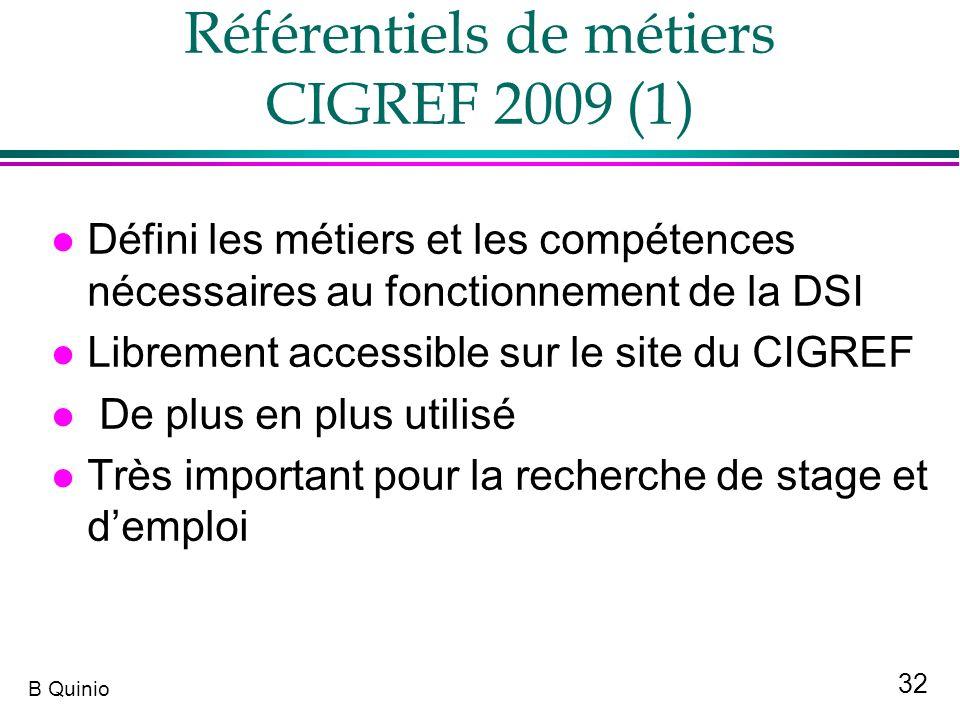 Référentiels de métiers CIGREF 2009 (1)