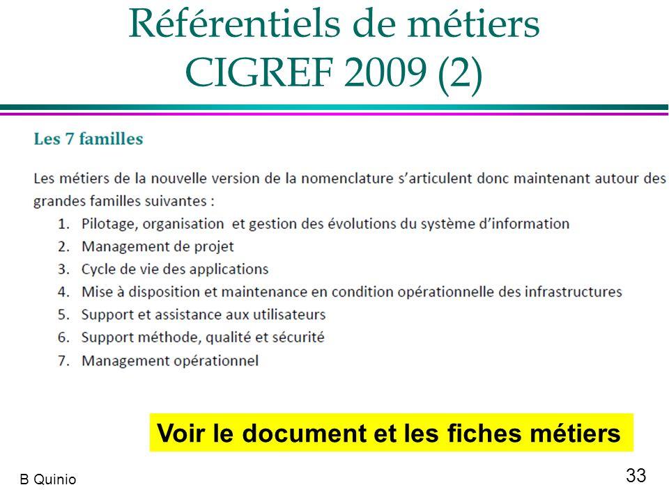 Référentiels de métiers CIGREF 2009 (2)