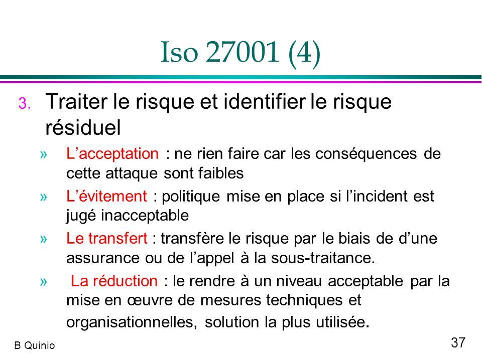 Iso 27001 (4) Traiter le risque et identifier le risque résiduel