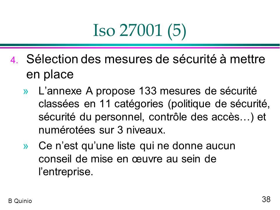 Iso 27001 (5) Sélection des mesures de sécurité à mettre en place