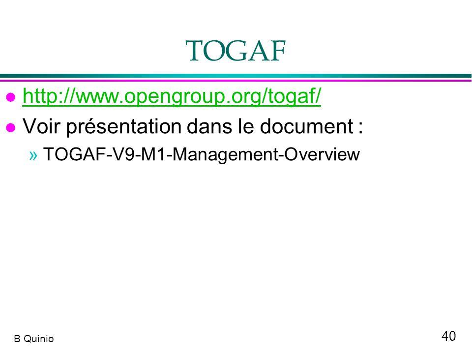 TOGAF http://www.opengroup.org/togaf/