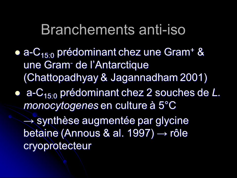 Branchements anti-iso