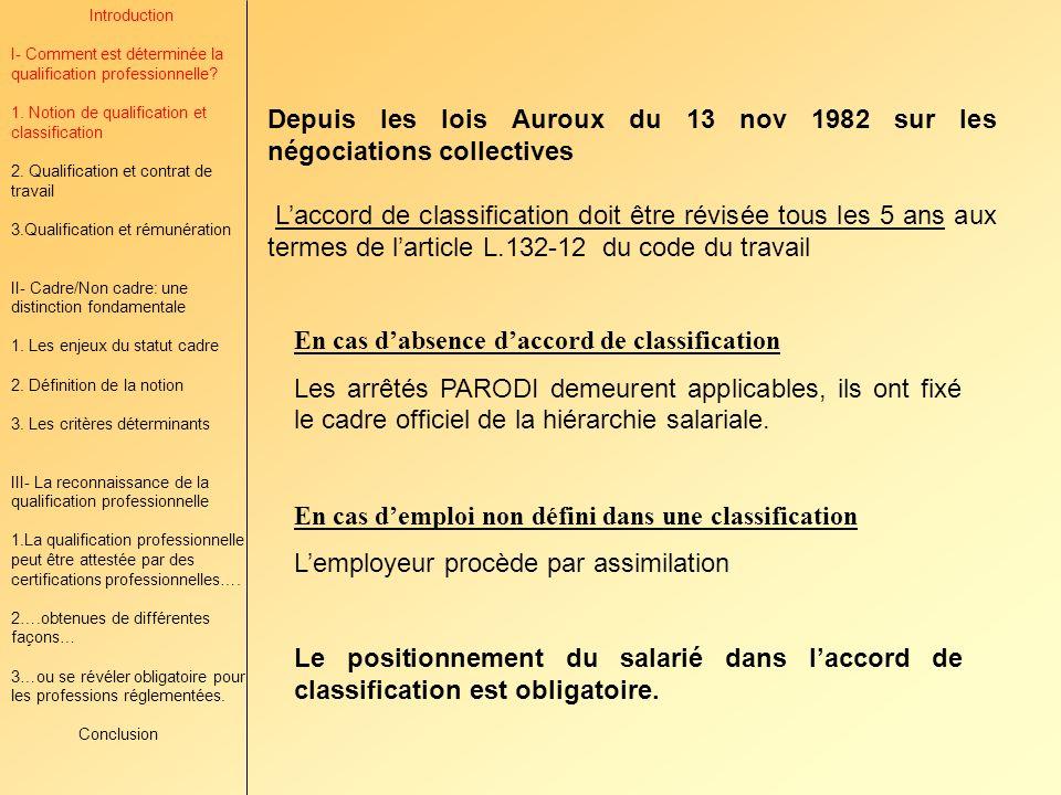 Depuis les lois Auroux du 13 nov 1982 sur les négociations collectives