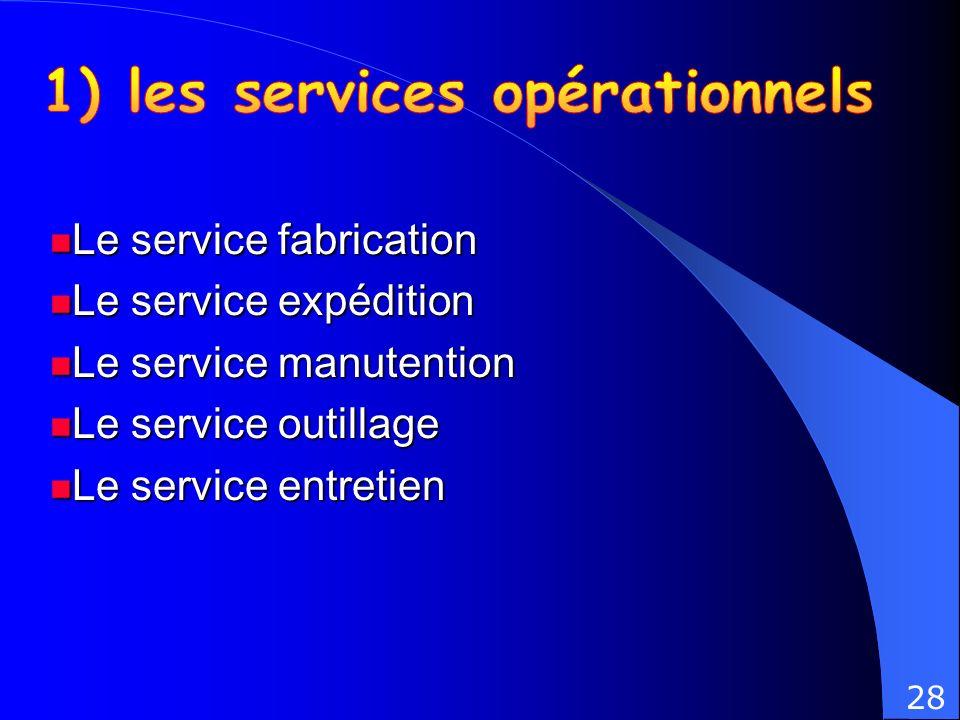 1) les services opérationnels