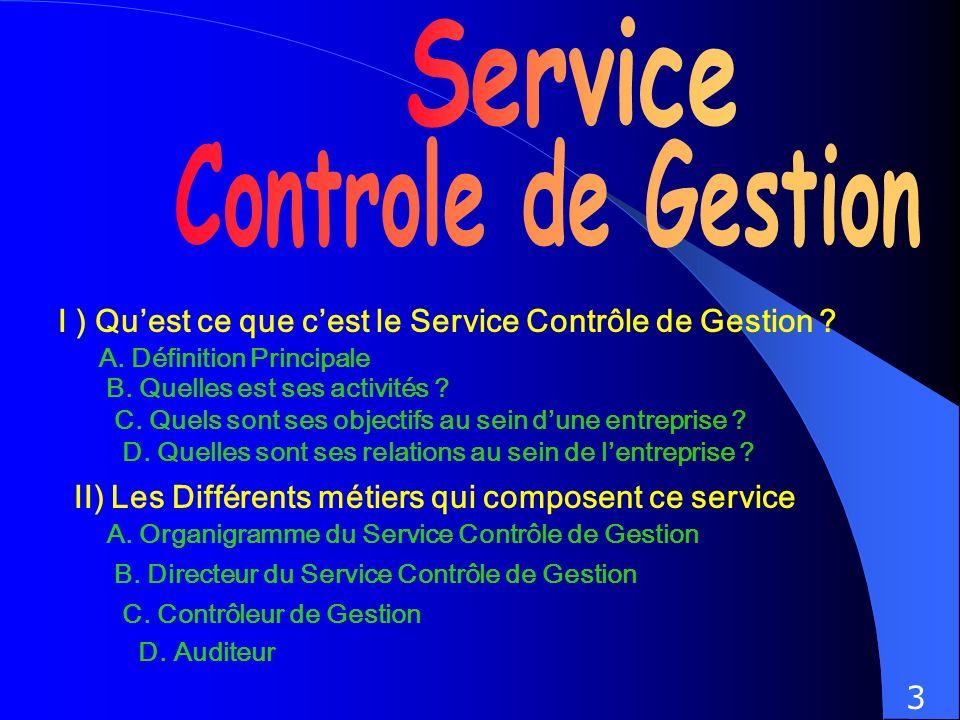 Service Controle de Gestion