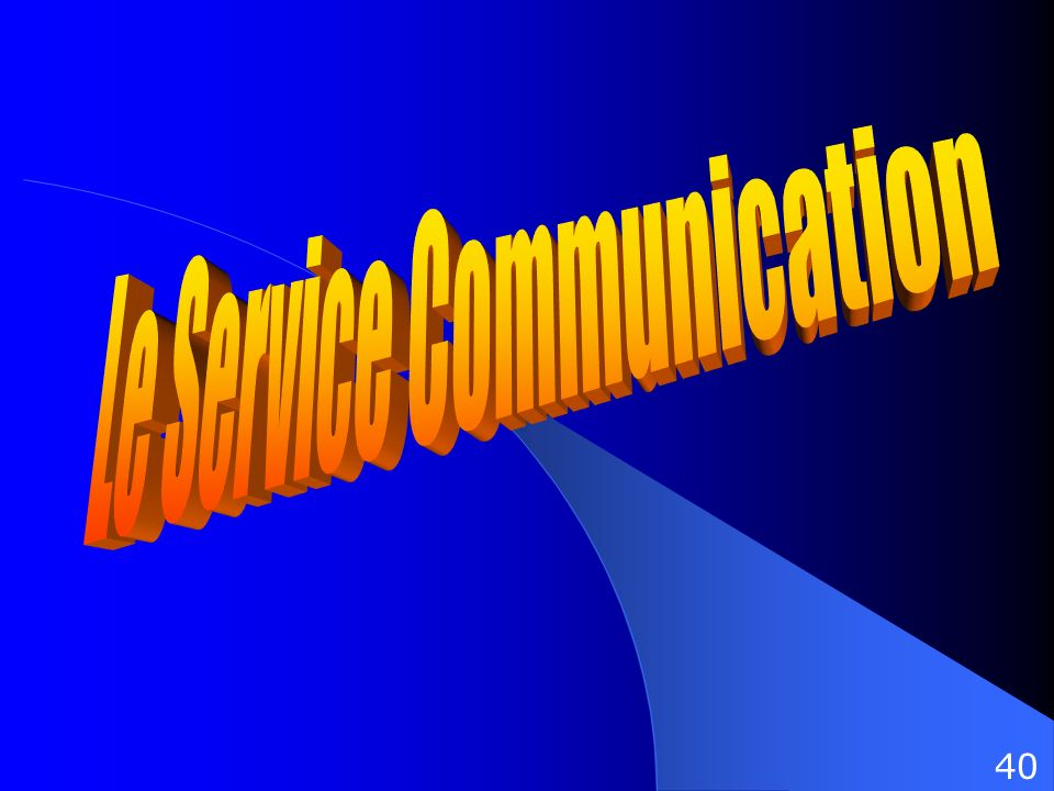 Le Service Communication