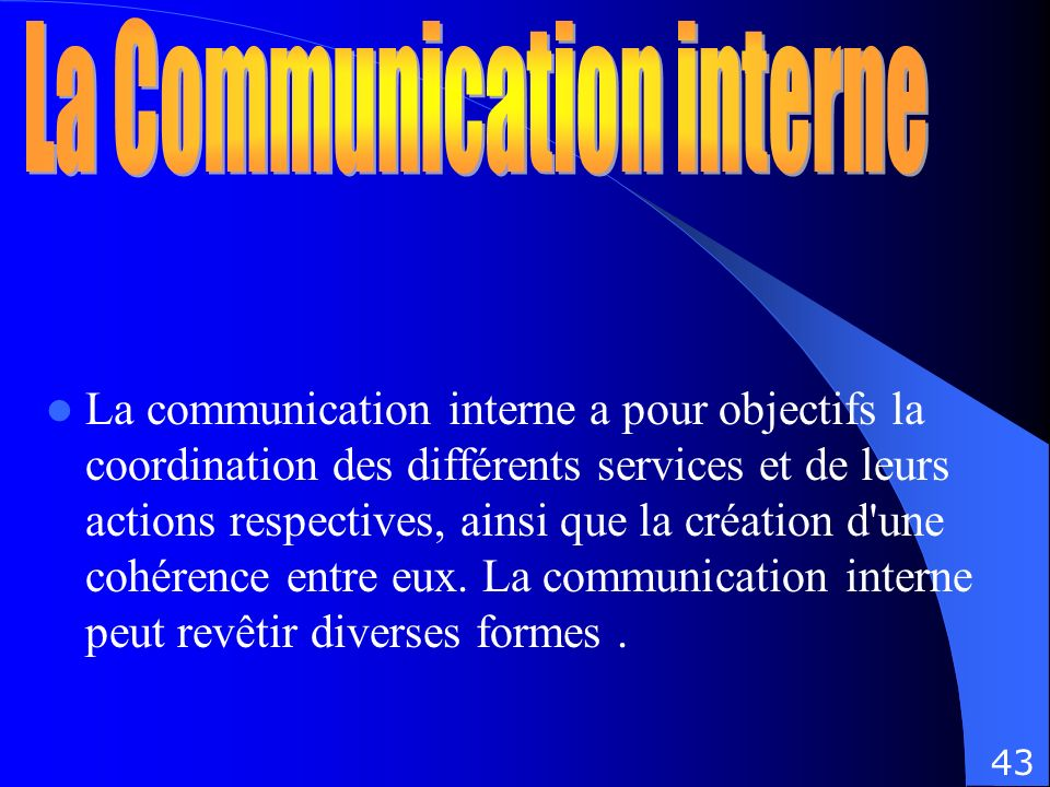 La Communication interne