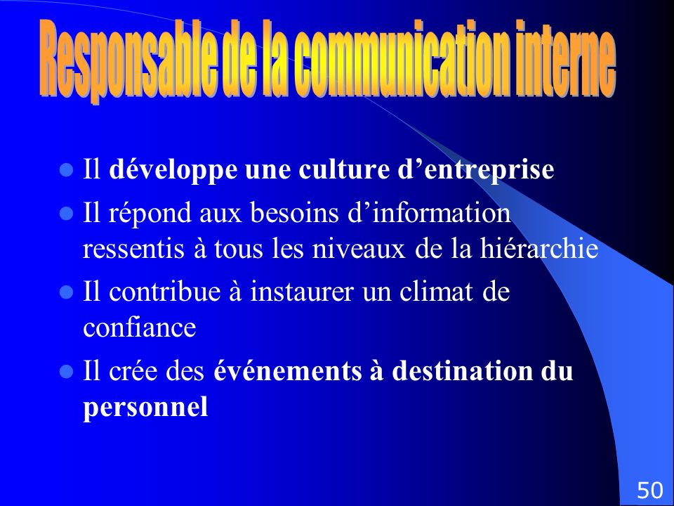 Responsable de la communication interne