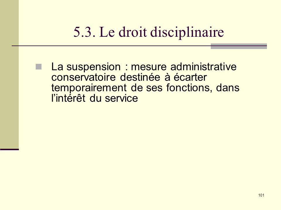 5.3. Le droit disciplinaire