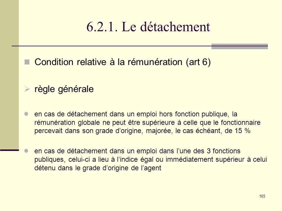 6.2.1. Le détachement Condition relative à la rémunération (art 6)