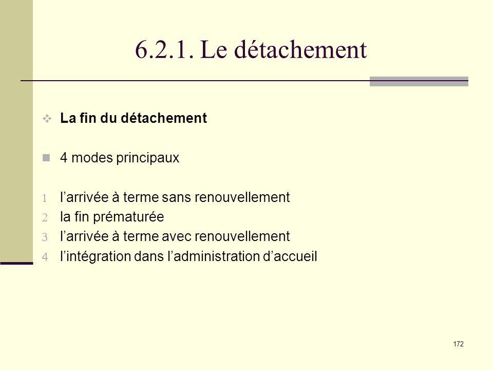 6.2.1. Le détachement La fin du détachement 4 modes principaux