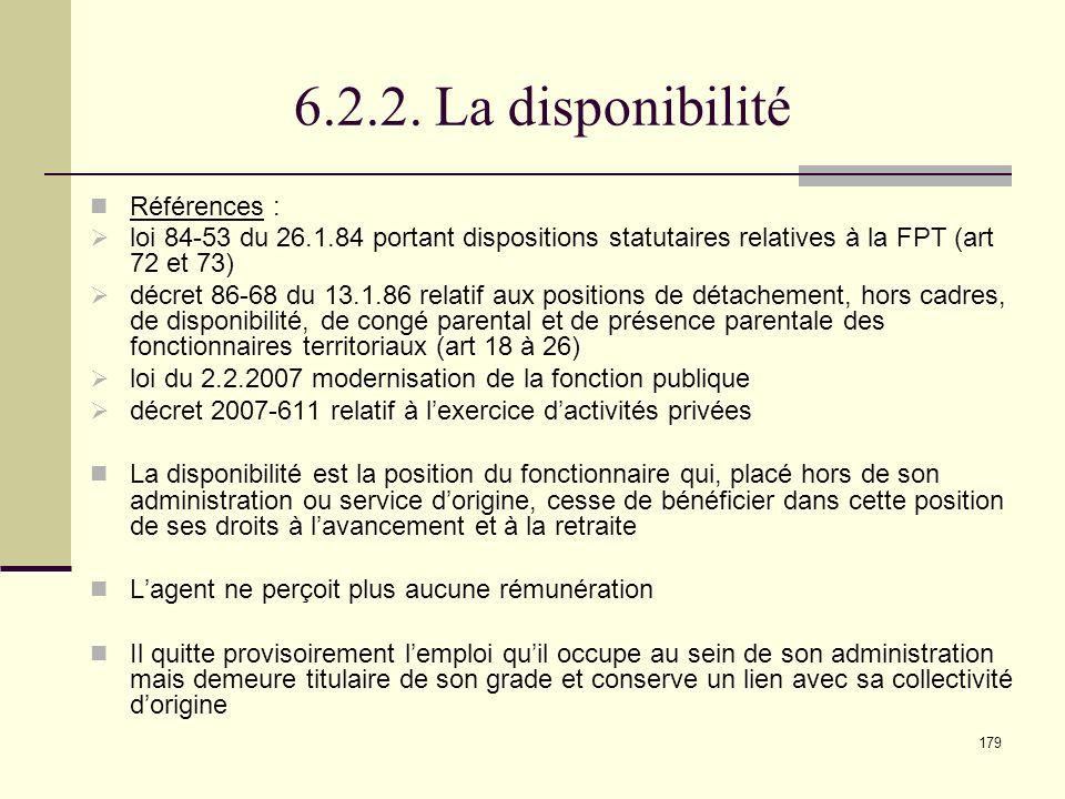 6.2.2. La disponibilité Références :